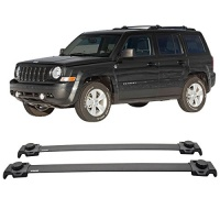 PATRIOT Cross Bars Fits 2007-2015 JEEP | OEM Style Aluminum by IKON MOTORSPORTS Photo