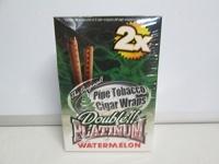 DOUBLE PLATINUM DOUBLE!! PLATINUM CIGAR WRAPS 2 PER PACK WATERMELON FLAVOR PACK OF 25 Photo