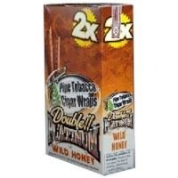 DOUBLE PLATINUM DOUBLE!! PLATINUM CIGAR WRAPS 2 PER PACK WILD HONEY FLAVOR PACK OF 25 Photo