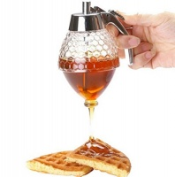 FHD Honey Dispenser Glass Handle Drip Syrup Photo