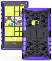 LEASUN For NOKIA Lumia 920 Case Generic Heavy Duty Armor Case Cover with Built-in Kickstand for Nokia Lumia 920 -Black Photo