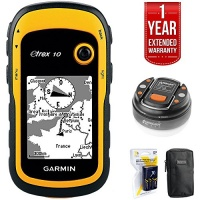 Garmin eTrex 10 Worldwide Handheld GPS Navigator LED Brite-Nite Dome Lantern Flashlight Carrying Case 4x Rechargeable AA Batteries w/Charger 1 Year Extended Warranty Photo
