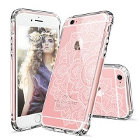 MOSNOVO iPhone 6 Plus Case iPhone 6s Plus Case Clear White Floral Garden Flower Pattern Clear Design Transparent Plastic Hard with TPU Bumper Protective Case Cover for iPhone 6 6s Plus Photo