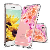 MOSNOVO iPhone 6s Plus Case Clear iPhone 6 Plus Case Watercolor Roses Floral Flower Clear Design Transparent Plastic Hard with TPU Bumper Protective Case Cover for Apple iPhone 6 6s Plus Photo