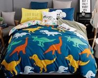 LAGHCAT 4 Piece Kids Bedding for Teens Boys Girls Dinosaur Printed Christmas Bed sheet set Full Size Photo