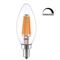 LED E14 Candle Light Bulb Ephvan C35 6W Dimmable LED Filament Light Bulbs 60W Incandescent Replacement LED Lamp Bulb 2700k Warm White Photo