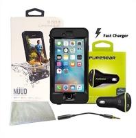 Lifeproof NÜÜD SERIES iPhone 6s Plus ONLY Waterproof Case - Retail Packaging - BLACK and Lifeproof LifeActiv Bike/Bar Mount with Quickmount - Mount - Retail Packaging - Black Bundle Photo
