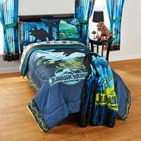 New! Jurassic Dinosaur World 5 Piece Full Comforter Sheet Set Bedding Photo