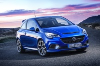 """Opel Corsa OPC Car Art Poster Print on 10 mil Archival Satin Paper Blue Front Side Static View 36""""x24"""" Photo"""