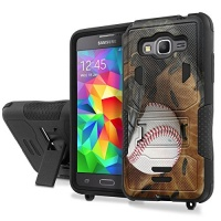 Naked Shield Samsung Galaxy [Grand PRIME] Armor Case [] [Black/Black] Urban Armor Defender with Kick Stand Phone Case - [Basketball] for Samsung Galaxy [Grand PRIME] G530 Photo