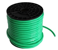 ShunYinWanDa Vasten 30 Ft Green Cover Green Light LED Neon Rope Light 12V input Waterproof Resistant Accessories Included - [Ideal For Christmas Lighting Indoor / Outdoor Rope Lighting] [Ready to use] Photo