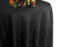 """Wedding Linens Inc . 90"""" Round Jacquard Damask Polyester Tablecloths Table Cover Linens for Restaurant Kitchen Dining Wedding Party Banquet Events - Gold Photo"""