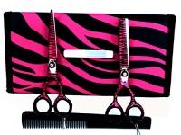 "ZZZRT tarders ZZZRT Japanese J2 Stainless Steel Pro Razor edge Barber Hair cutting scissors shears Barber Thinning Scissors Shears 5.5""& 5.5"" with Comb Free scissors Lubricant & scissors insert rings Photo"