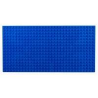 Bricks & Pieces - Block Baseplate 16x32 - Blue Photo