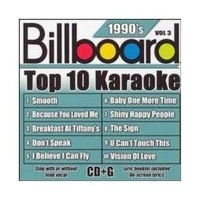 Billboard Top 10 Karaoke 90's Vol 3 CD Photo