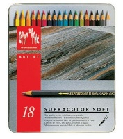 "Caran D Ache Supracolor Soft - Set of 18"" Metal Tin Photo"