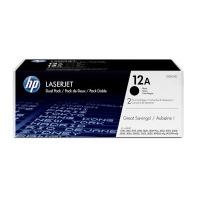 HP 12A Original Black 2 pieces Photo