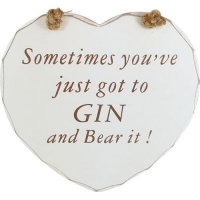 Gin Tribe Heart Plaque - Gin and Bear It Photo
