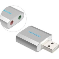 Vention USB Audio Adapter with 3.5mm Microphone and Earphone Jacks Photo