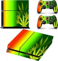 SKIN-NIT Decal Skin For PS4: Rasta weed Photo