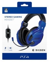 Bigben Interactive PS4OFHEADSETV3G Headset Head-band Blue Photo