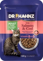 Dr Hahnz Cat Food Pouch with Salmon & Cod Photo