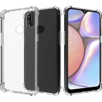 CellTime Galaxy A10S Clear Shock Resistant Armor Cover Photo
