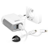 Apple Port Wall Charger with Micro USB Android & Lightining Cable Photo