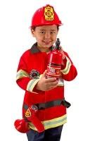 Melissa & Doug Pretend Play - Fire Chief Role Play Costume Set Photo