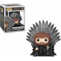 Funko Pop! Deluxe: Game of Thrones - Tyrion Lannister Sitting on Throne Vinyl Figurine Photo