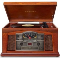 Crosley Lancaster Wooden Entertainment Center with Turntable Photo