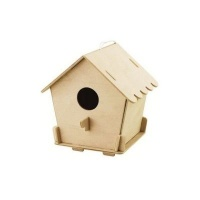 Robotime Bird House with Paints - Closed Photo