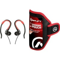 Amplify Pro 2-in-1 Jogger In-Ear Hook Headphones with Pouch Photo