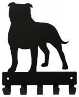 Eboy Steel Staffordshire Terrier Key Rack & Leash Hanger Photo