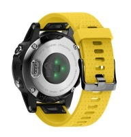 Unbranded Silicone Band for Garmin Fenix 5s/ 5s Plus - Yellow Photo