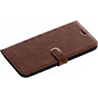 Tellur Book Case Genuine Leather for iPhone 6/6s Plus Brown Photo