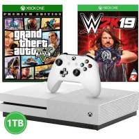 Microsoft Xbox One S Console - With WWE 2K19 and GTA V Photo