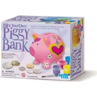 4M Paint Your Own Piggy Bank Kit Photo