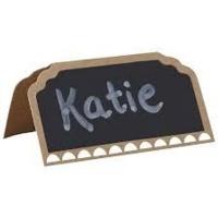 Vintage Affair - Chalkboard Kraft Place-Cards Photo