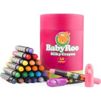 JarMelo Baby Roo Silky Washable Crayons: 24 Crayons Photo