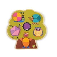 Oops! Build a Tree and Build a House Wooden Puzzle Photo