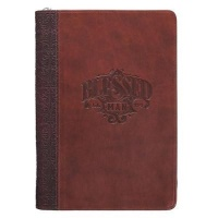 Christian Art Gifts Inc Blessed Man Brown Quarter-bound Classic Journal with Zipped Closure - Jeremiah 17:7 Photo