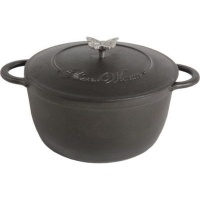 Pioneer Woman Timeless Beauty Cast Iron 5QT Dutch oven with Lid Black Photo