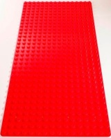 Bricks & Pieces - Block Baseplate 16x32 - Red Photo
