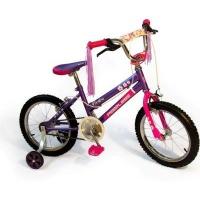 Peerless Flower Power Pedals Girls' Bike with Training Wheels 16 Photo