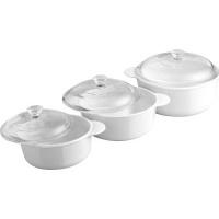 Corningware Just White Round Casserole Set Photo