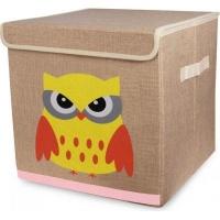 Animal Canvas Storage Box - Owl Photo