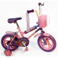 "Peerless BMX Bicycle with Training Wheels 12"" - Mauve and Pink Photo"