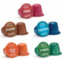 Caffeluxe African Collection Variety Capsules - Compatible with Nespresso & Caffeluxe Capsule Coffee Machines Photo