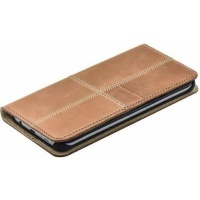 Samsung Tellur Book Case Magnetic Genuine Leather Patch for S7 Brown Photo
